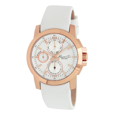 Kenneth Cole New York Rose Gold Watch With Leather Strap