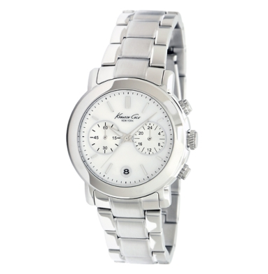 Kenneth Cole New York Silver Watch With Link Strap
