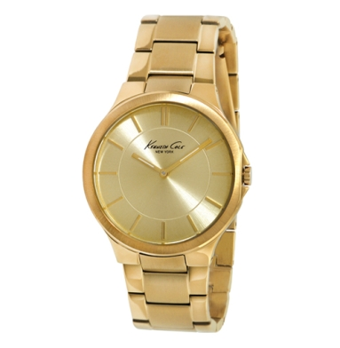 Kenneth Cole New York Gold Watch With Link Strap