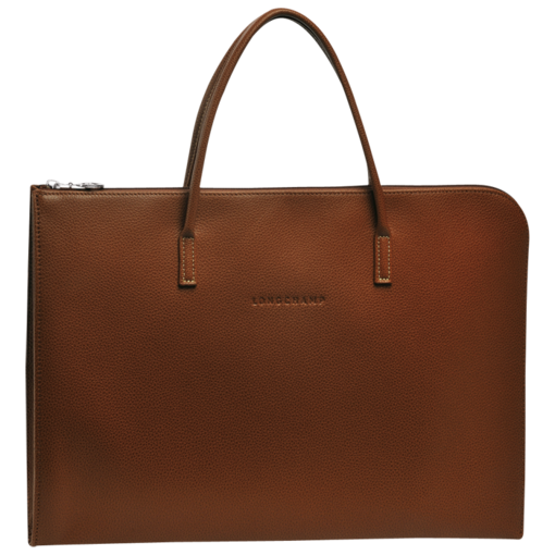 Longchamp Veau Foulonne Document holder Cognac