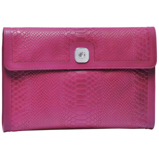 Longchamp Gatsby Exotic Clutch bag Fuchsia