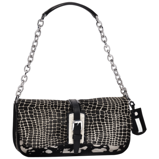 Longchamp More is more Clutch bag Black/white