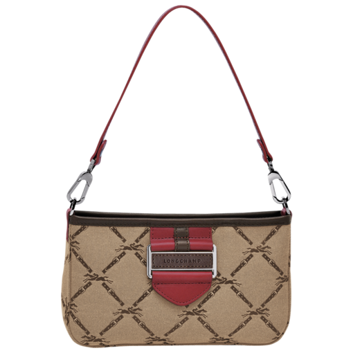Longchamp LM Jacquard Clutch bag Carmine
