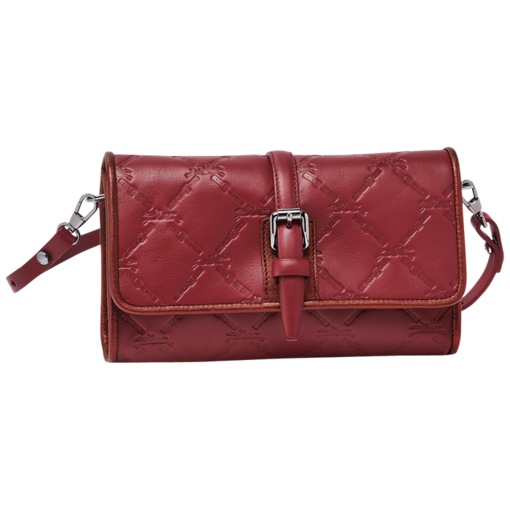 Longchamp LM Cuir Messenger bag Carmine