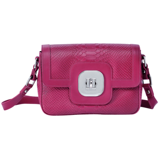 Longchamp Gatsby Exotic Messenger bag Fuchsia