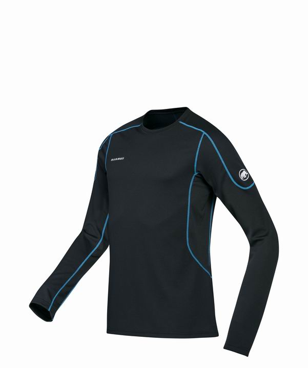Mammut Men Go Warm Longsleeve black-cyan