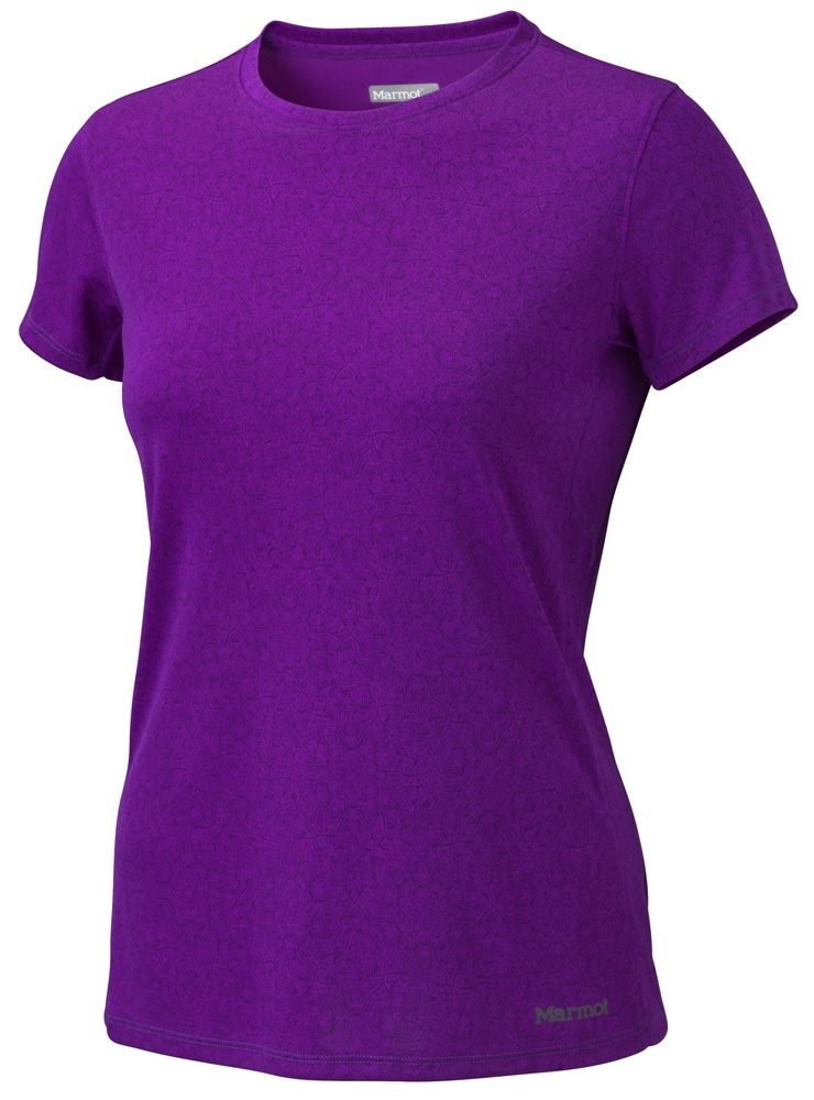 Marmot Womens Cascade SS Deep Purple Mosaic
