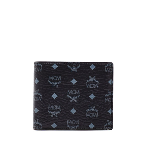 MCM MEN Claus CLAUS BI-FOLD COIN WALLET Black SMALL