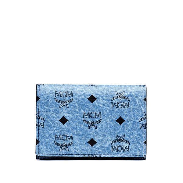 MCM MEN Claus CLAUS CARD WALLET Denim ONE SIZE