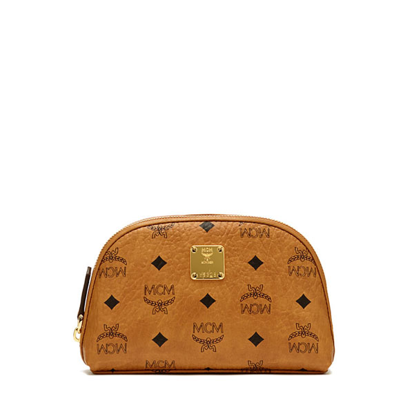 MCM MEN Heritage Line HERITAGE COSMETIC POUCH Cognac MEDIUM