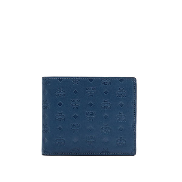 MCM MEN Sigmund SIGMUND BI-FOLD WALLET Navy SMALL