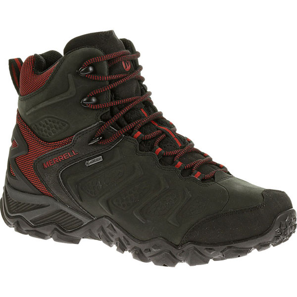 MERRELL MEN'S CHAMELEON SHIFT MID WATERPROOF Black/Red