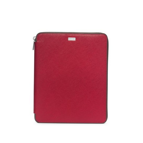 MICHAEL KORS MEN Saffiano Leather Tablet Case For Ipad WINE