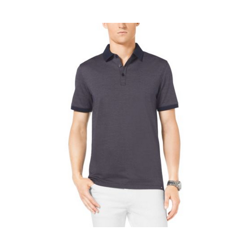 MICHAEL KORS MEN Jacquard Cotton Polo Shirt INDIGO