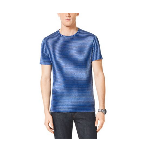MICHAEL KORS MEN Striped Linen T-Shirt TIDAL