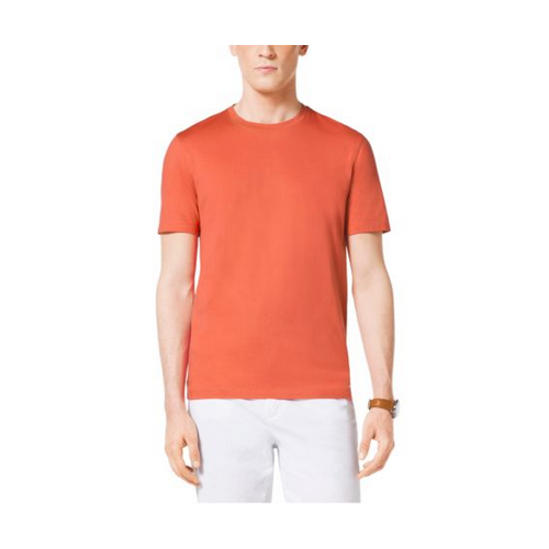MICHAEL KORS MEN Cotton Crewneck T-Shirt PERSIMMON