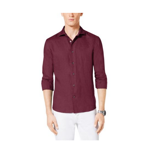 MICHAEL KORS MEN Tailored-Fit Linen Shirt CHIANTI