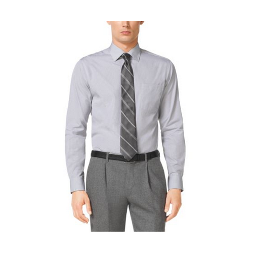 MICHAEL KORS MEN Tailored-Fit Cotton Shirt GREY