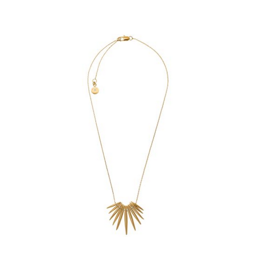 MICHAEL KORS Gold-Tone Tribal Pendant Necklace