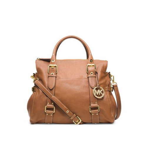 MICHAEL MICHAEL KORS Lea Large Leather Satchel LUGGAGE