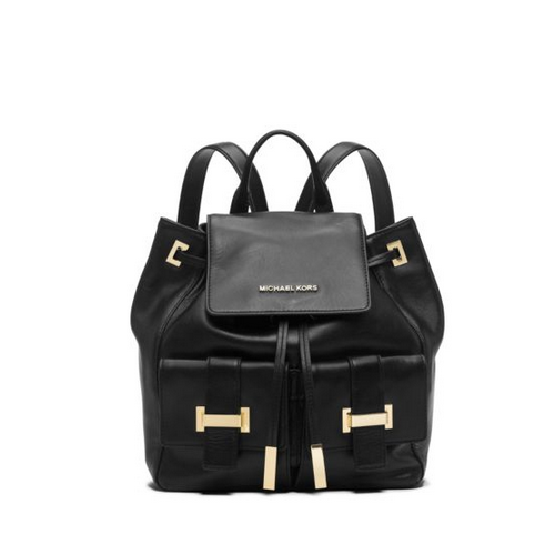 MICHAEL MICHAEL KORS Marly Drawstring Leather Backpack
