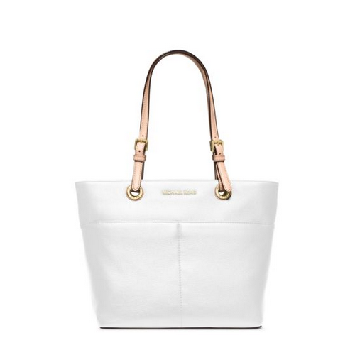MICHAEL MICHAEL KORS Bedford Leather Tote OPTIC WHITE