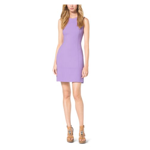 MICHAEL KORS COLLECTION Boucl-Crepe Boat-Neck Shift Dress WISTERIA