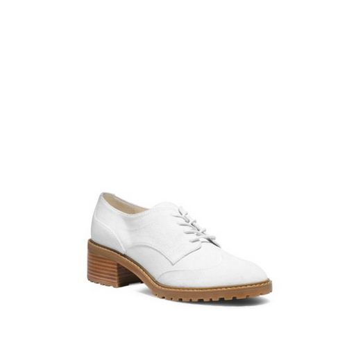 MICHAEL MICHAEL KORS Edison Leather Brogue OPTIC WHITE