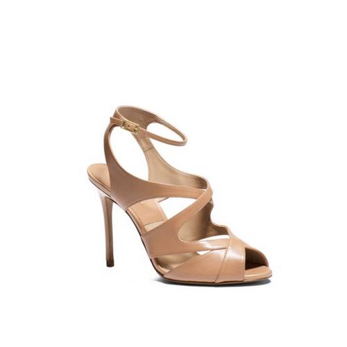 MICHAEL MICHAEL KORS Cordelia Leather Sandal TOFFEE