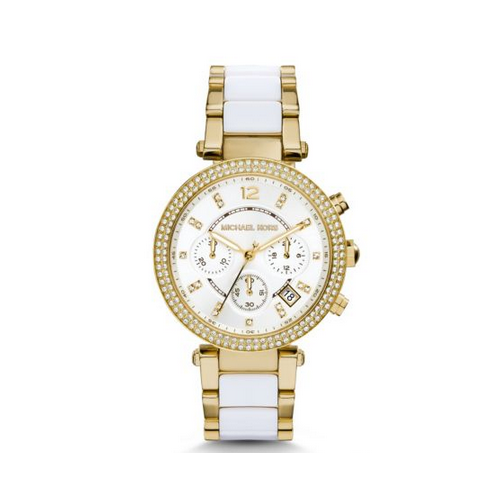 MICHAEL KORS Parker Pav Gold-Tone Acetate Watch