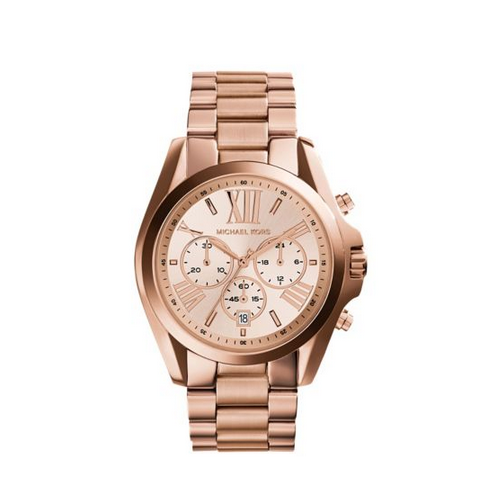 MICHAEL KORS Oversized Bradshaw Rose Gold-Tone Watch