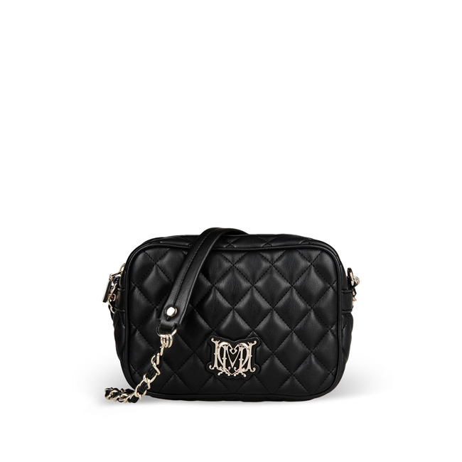 Love Moschino Small fabric bag BLACK