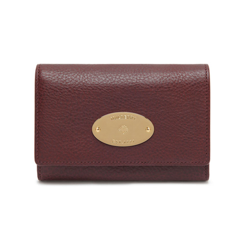 Mulberry French Purse Oxblood Coloured Natural Leather