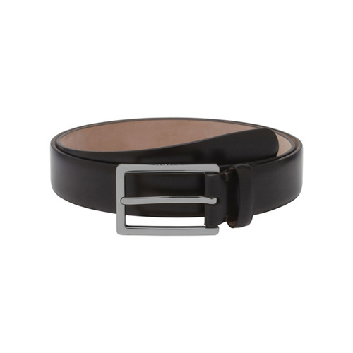 Mulberry Long Buckle Belt Brown Smooth Classic With Nickel