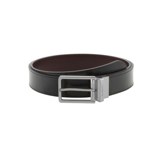 Mulberry Reversible Prong Belt Black & Brown Smooth Classic