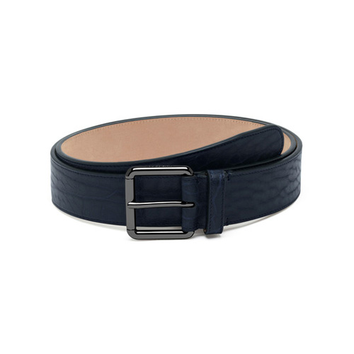Mulberry Wide Buckle Belt Midnight Blue Shrunken Calf