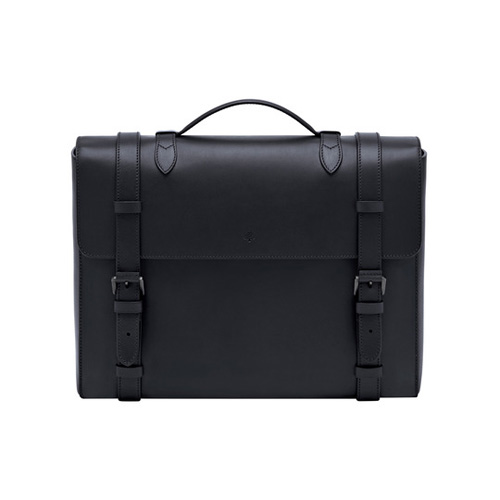 Mulberry Somerton Briefcase Black Smooth Saddle