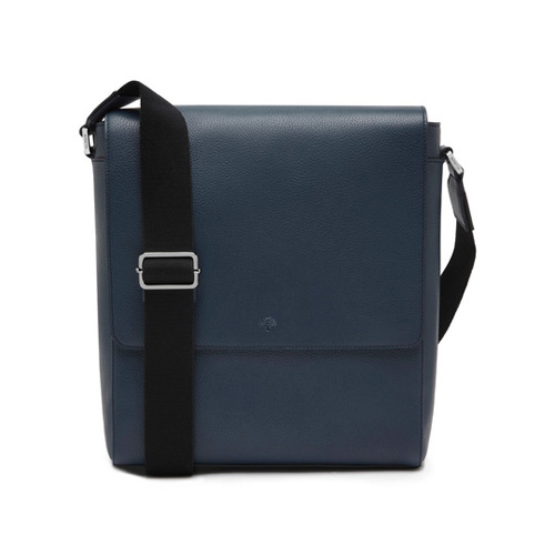 Mulberry Maxwell Slim Messenger Regal Blue Small Classic Grain