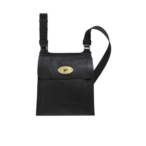 Mulberry Antony Messenger Black Natural Leather