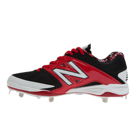 MEN\'S New Balance Low-Cut 4040v2 Metal Cleat Red with Black