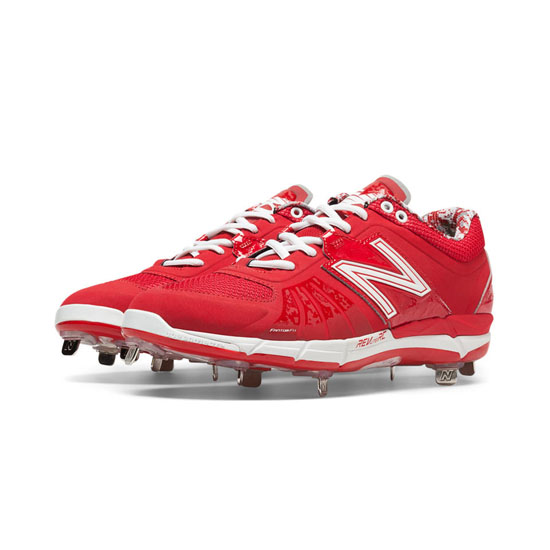 MEN'S New Balance Low-Cut 3000v2 Metal Cleat Red