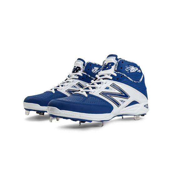 MEN'S New Balance Mid-Cut 4040v2 Metal Cleat Blue with White
