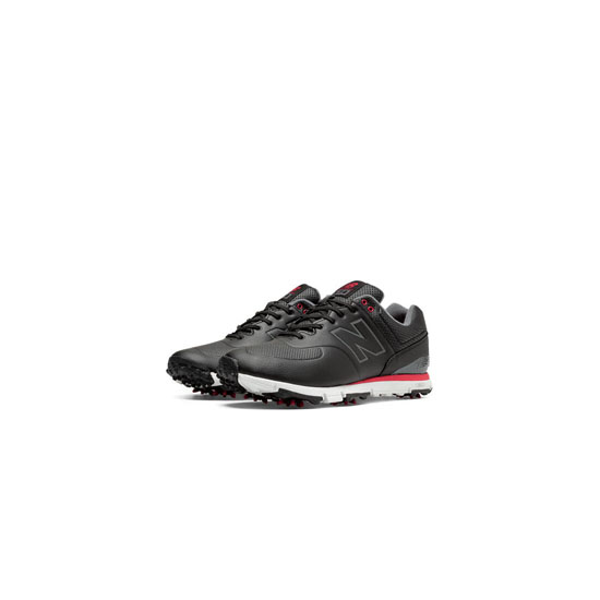 MEN'S New Balance Golf Leather 574 Black with Red