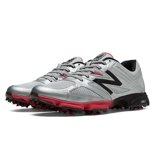 MEN'S New Balance Golf 2003 Silver with Red & Black