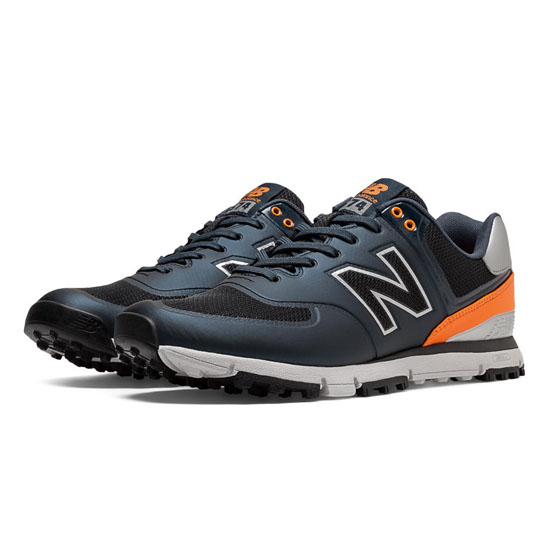 MEN'S New Balance Golf 574 Navy with Orange