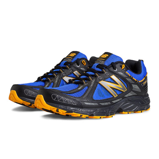 MEN'S New Balance 510v2 Black with Blue & Yellow