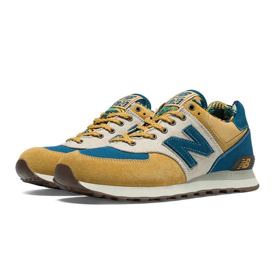 MEN'S New Balance Botanical Garden 574 Yellow with Blue & Off White