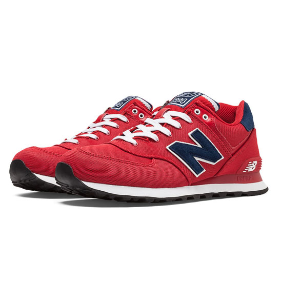 MEN'S New Balance 574 Pique Polo Pack Red with Navy