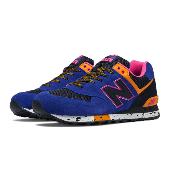 MEN'S New Balance 90s Outdoor 574 Blue with Black & Orange