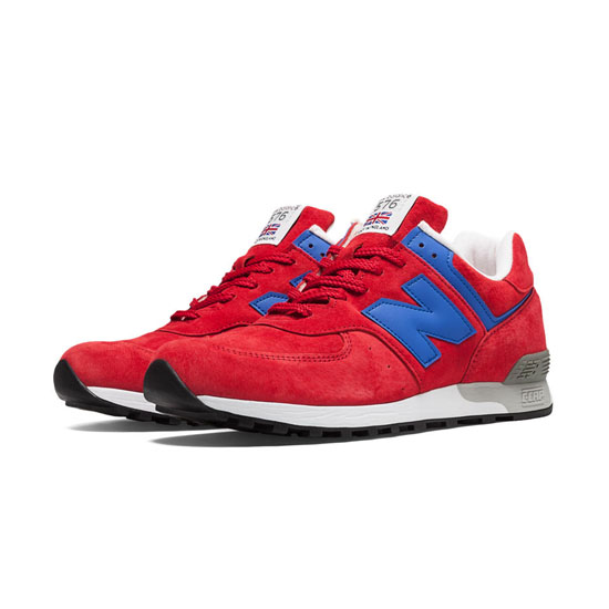 MEN'S New Balance Made in UK Heritage 576 Red with Blue